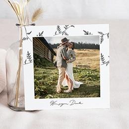 Dankeskarten Hochzeit mit Foto Herbal Love