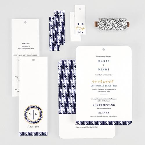 Hochzeitseinladungen Griechisches Blau gratuit