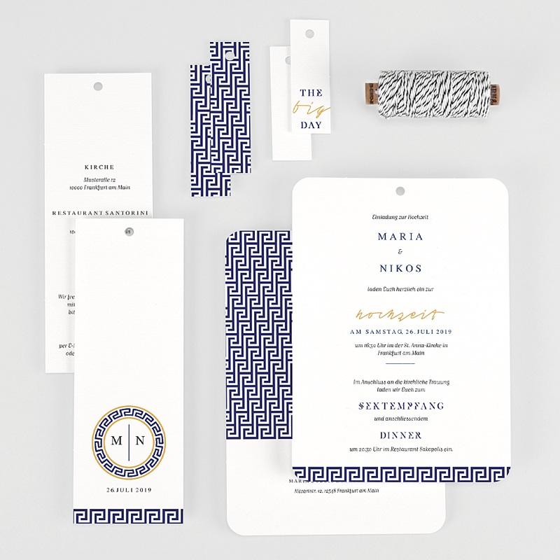 Orientalische Hochzeitskarten  - Griechisches Blau 59607 thumb