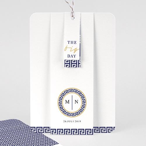 Orientalische Hochzeitskarten  - Griechisches Blau 59608 thumb