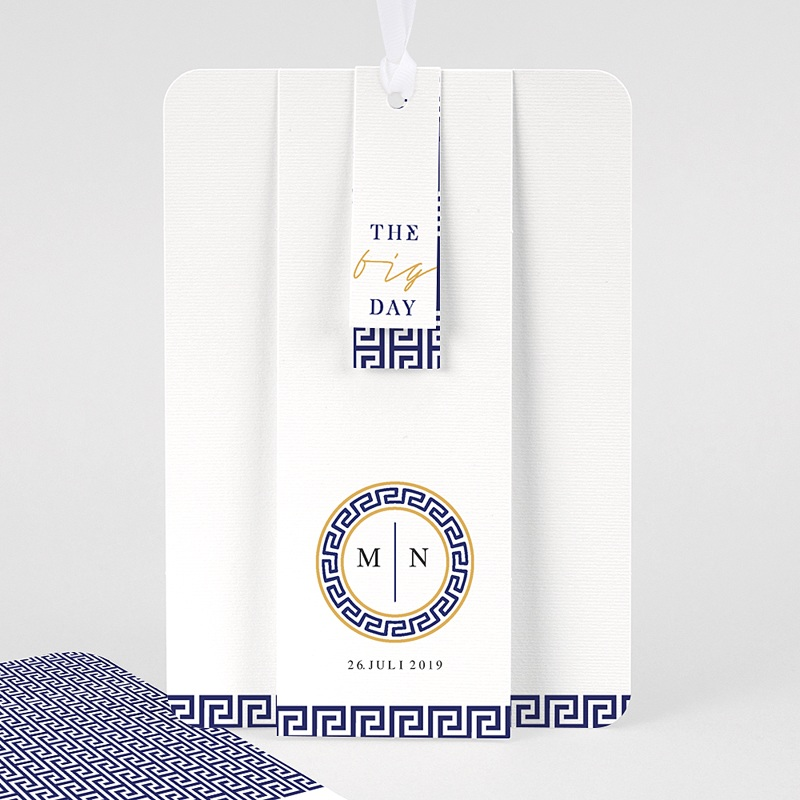 Orientalische Hochzeitskarten  - Griechisches Blau 59609 thumb
