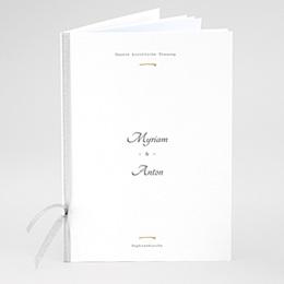 Kirchenheft zur Hochzeit individuell gestalten Wildrose