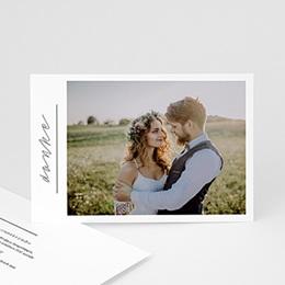 Dankeskarten Hochzeit mit Foto Pure Love