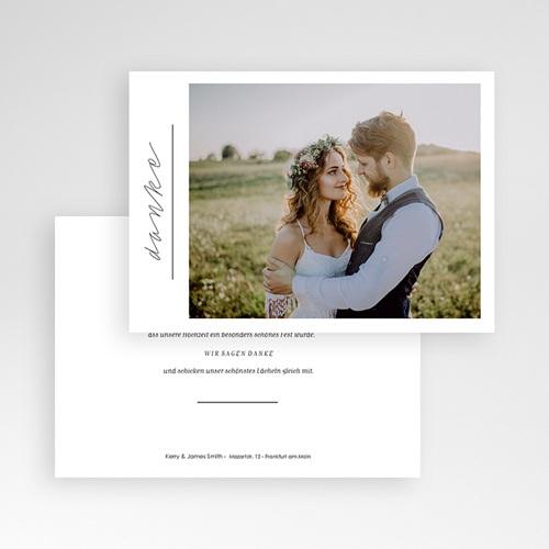 Dankeskarten Hochzeit mit Foto - Pure Love 59673 thumb