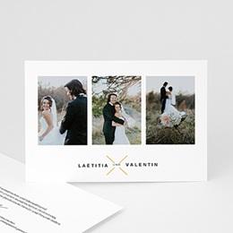 Dankeskarten Hochzeit mit Foto Eloquence