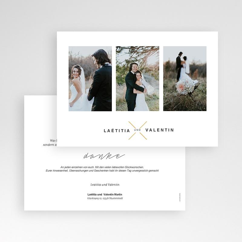 Dankeskarten Hochzeit mit Foto - Eloquence 59679 thumb