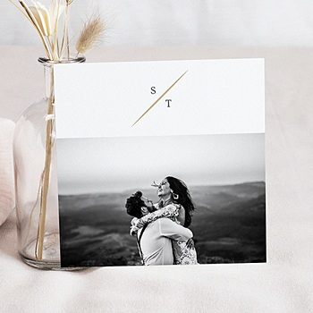 Dankeskarten Hochzeit mit Foto - Aquarell Natur - 0