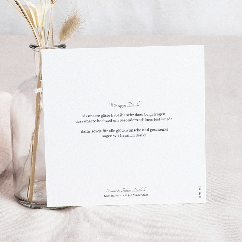 Dankeskarten Hochzeit mit Foto - Aquarell Natur 59712 thumb