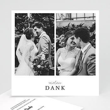 Dankeskarten Hochzeit mit Foto - Typografisch und Form - 0