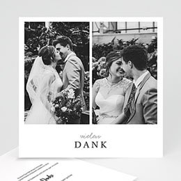 Dankeskarten Hochzeit mit Foto Typografisch und Form