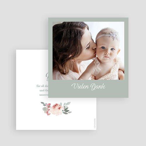 Dankeskarten Geburt Mädchen Little Princess gratuit