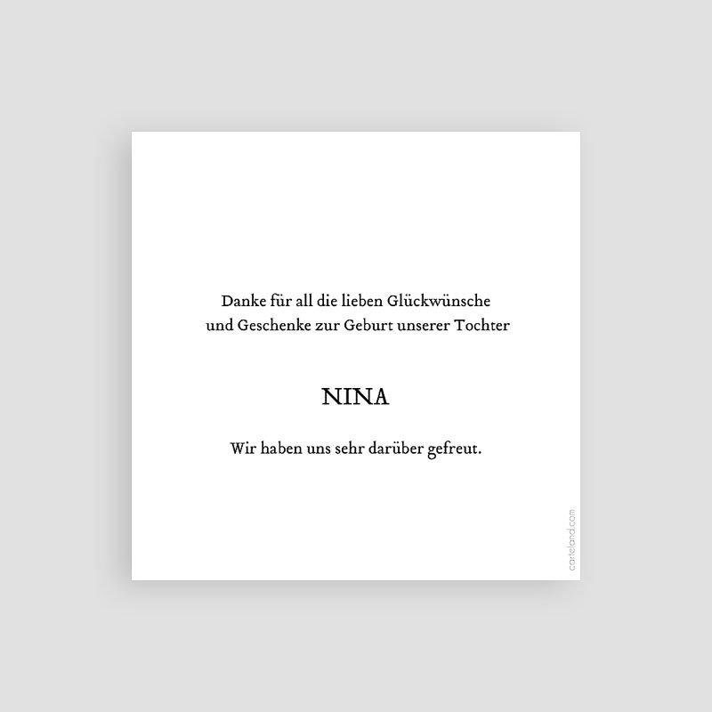 Dankeskarten Geburt Mädchen Märchenhaft pas cher