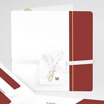 Einladungskarten Hochzeit  - Gold & Bordeaux - 0