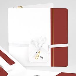 Einladungskarten Hochzeit  Gold & Bordeaux