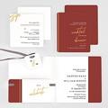Hochzeitseinladungen Gold & Bordeaux gratuit