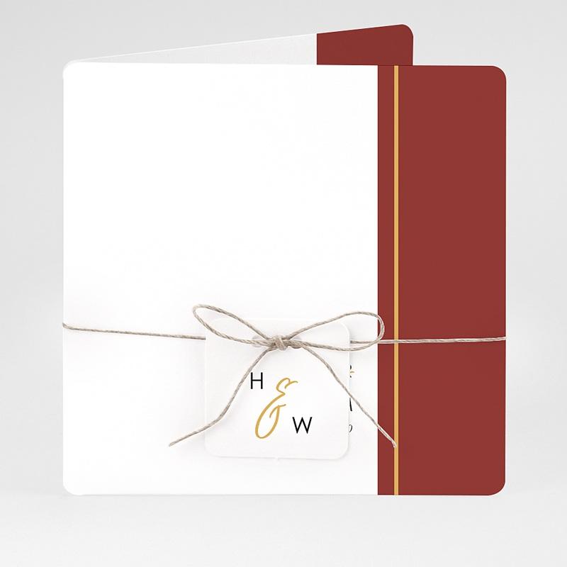 Hochzeitseinladungen Gold & Bordeaux