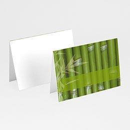 Tischkarten Hochzeit personalisiert Bambuswald