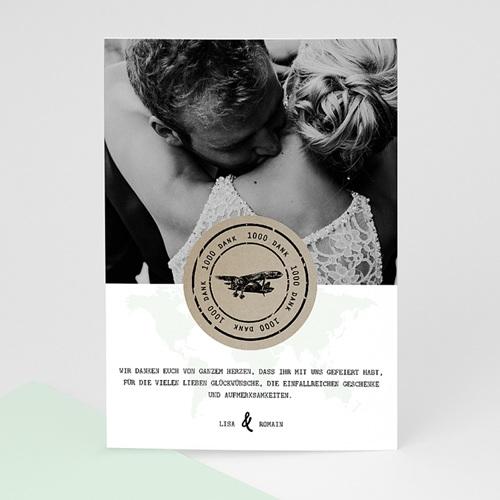 Dankeskarten Hochzeit mit Foto Time to Love
