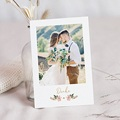 Elegante Dankeskarten Hochzeit Dahlien