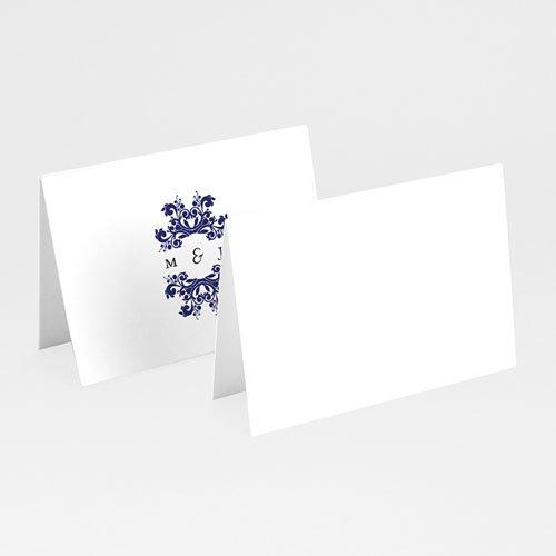 Tischkarten Hochzeit Ottomane Blau