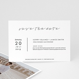 Save the date Hochzeit Pure Love
