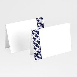 Tischkarten Hochzeit Griechisches Blau