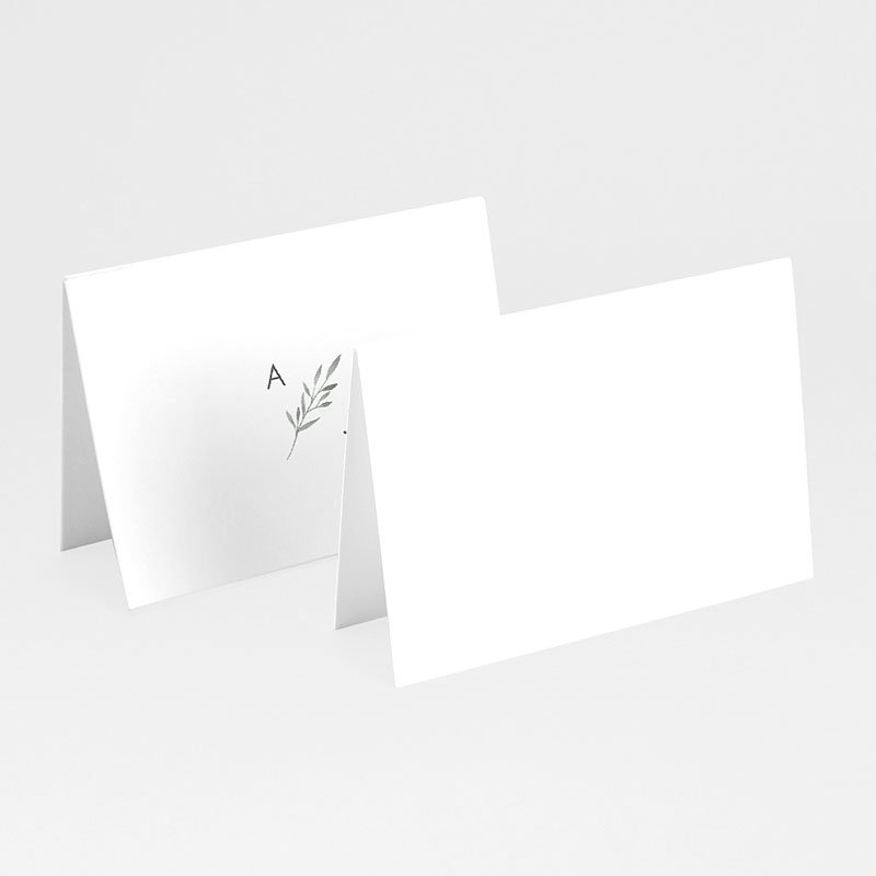 Tischkarten Hochzeit Olivenzweige Aquarell