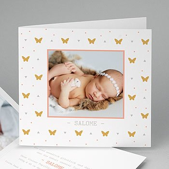 Geburtskarten für Mädchen Butterfly