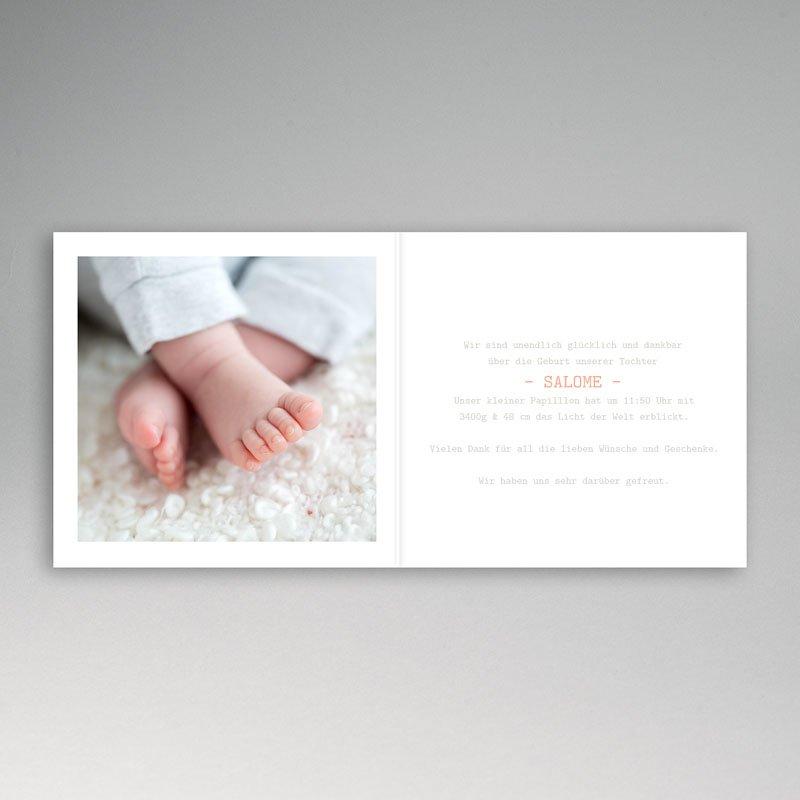 Geburtskarten für Mädchen Butterfly pas cher