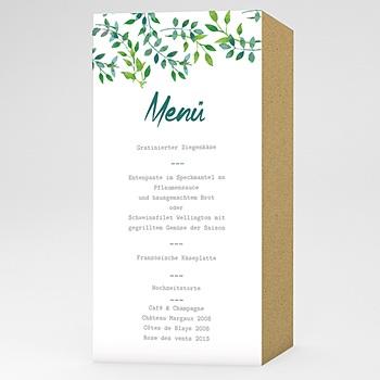 Menükarten Hochzeit - Greenery - 0