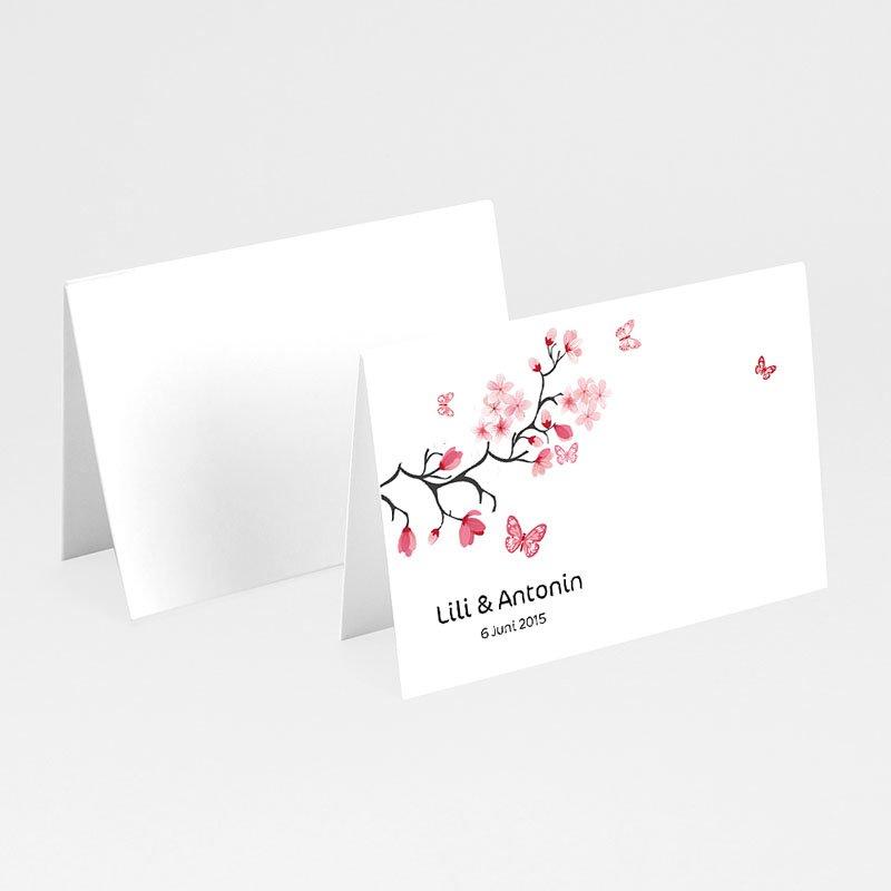 Tischkarten Hochzeit personalisiert Blüten