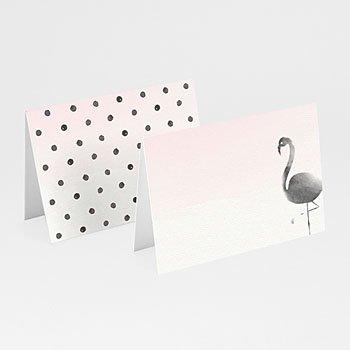 Tischkarten Hochzeit - Poetischer Flamingo - 0