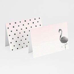 Tischkarten Hochzeit Poetischer Flamingo