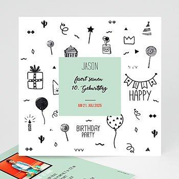 Einladungskarten Kindergeburtstag - Fun - 0