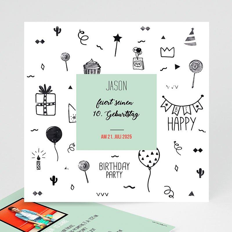 Einladungskarten Kindergeburtstag - Fun 60186 thumb