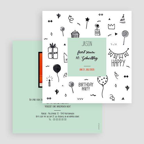 Einladungskarten Kindergeburtstag - Fun 60188 thumb