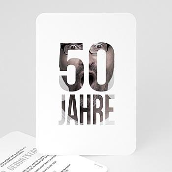 Einladung 50. Geburtstag - Fotozahl - 0
