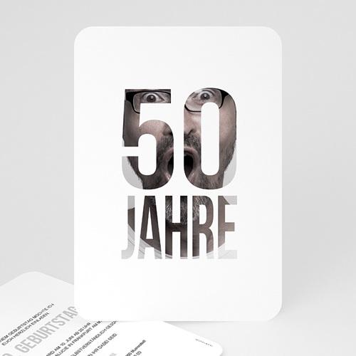 50 Jahre Alt Einladungskarten Geburtstag Fotozahl