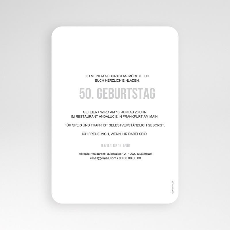 50 Jahre Alt Einladungskarten Geburtstag Fotozahl pas cher