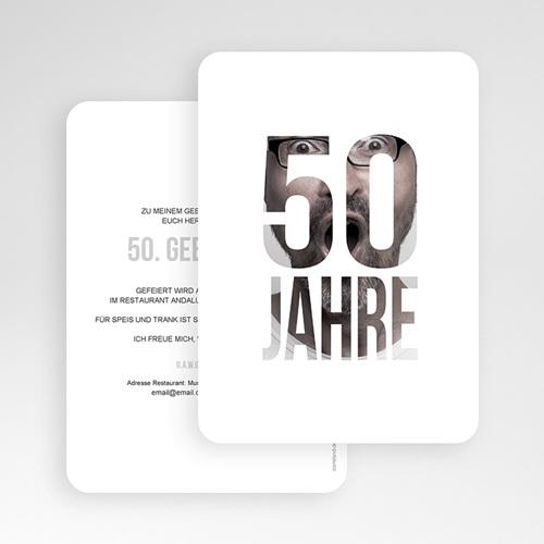 50 Jahre Alt Einladungskarten Geburtstag Fotozahl gratuit