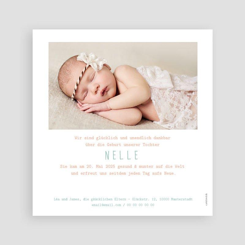 Geburtskarten für Mädchen Zitrone Mint pas cher