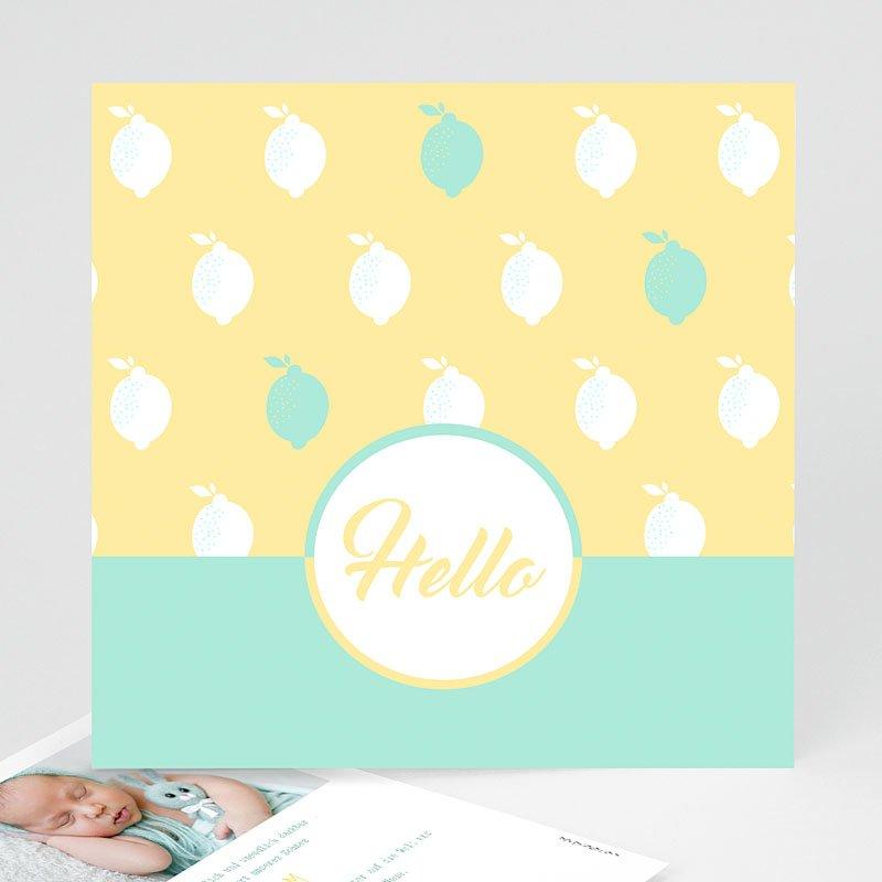 Geburtskarten für Jungen Limoncello