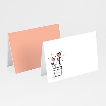 Tischkarten Hochzeit - 2 Herzen - 0