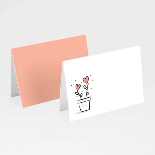 Tischkarten Hochzeit 2 Herzen