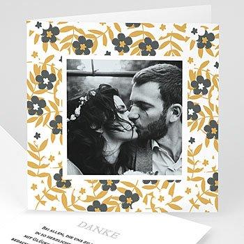 Dankeskarten Hochzeit mit Foto - Anemona - 0