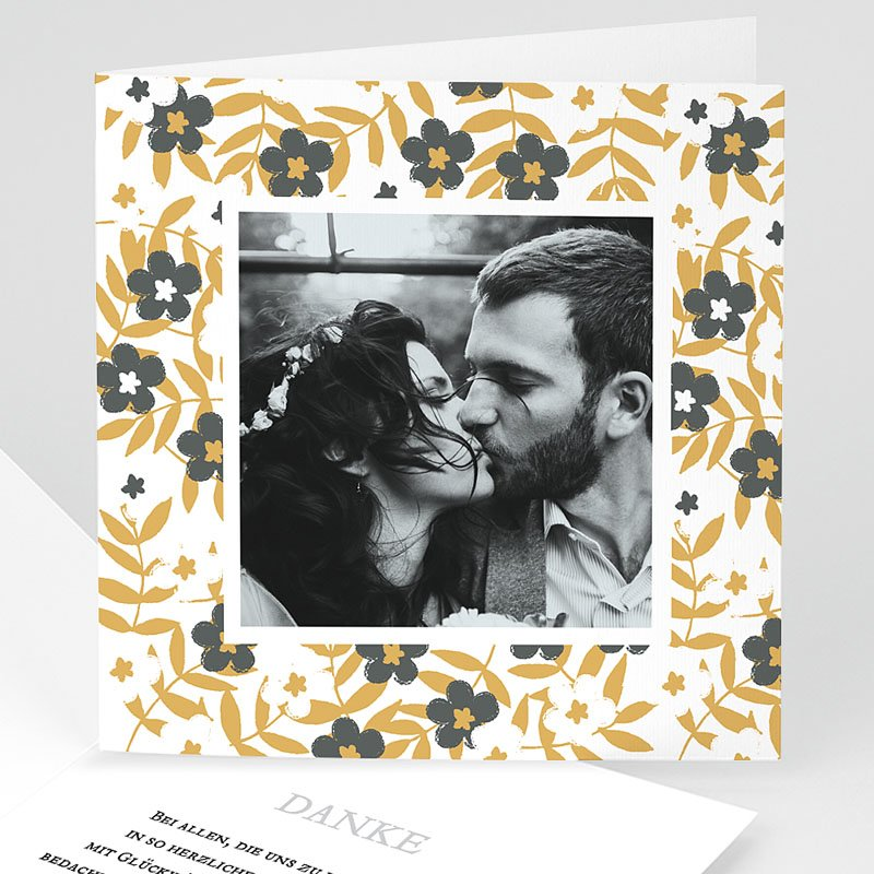 Dankeskarten Hochzeit mit Foto Anemona