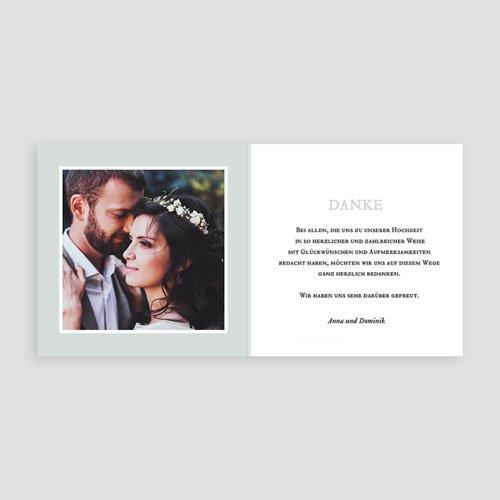 Dankeskarten Hochzeit mit Foto Anemona pas cher