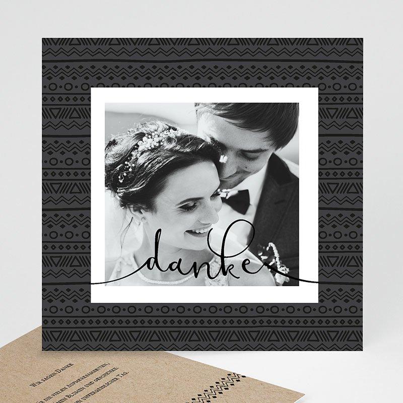 Dankeskarten Hochzeit mit Foto Kraftpapieroptik