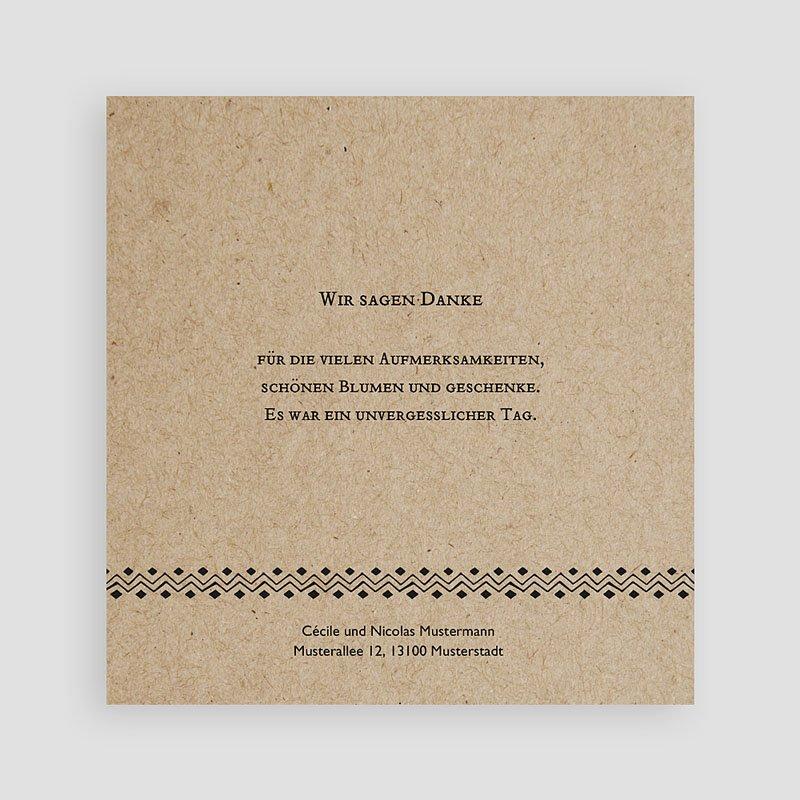 Dankeskarten Hochzeit mit Foto Kraftpapieroptik pas cher