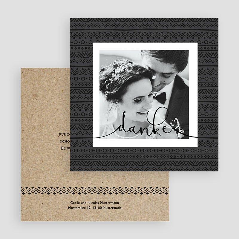 Dankeskarten Hochzeit Mit Foto Kraftpapieroptik Kostenloser Probedruck Carteland
